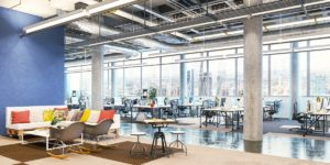 large office space interior