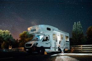 Camper Van at night