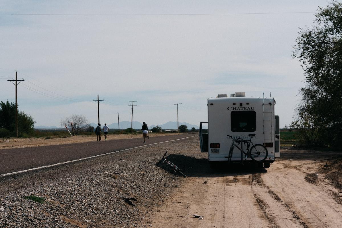 camper van parked on the side