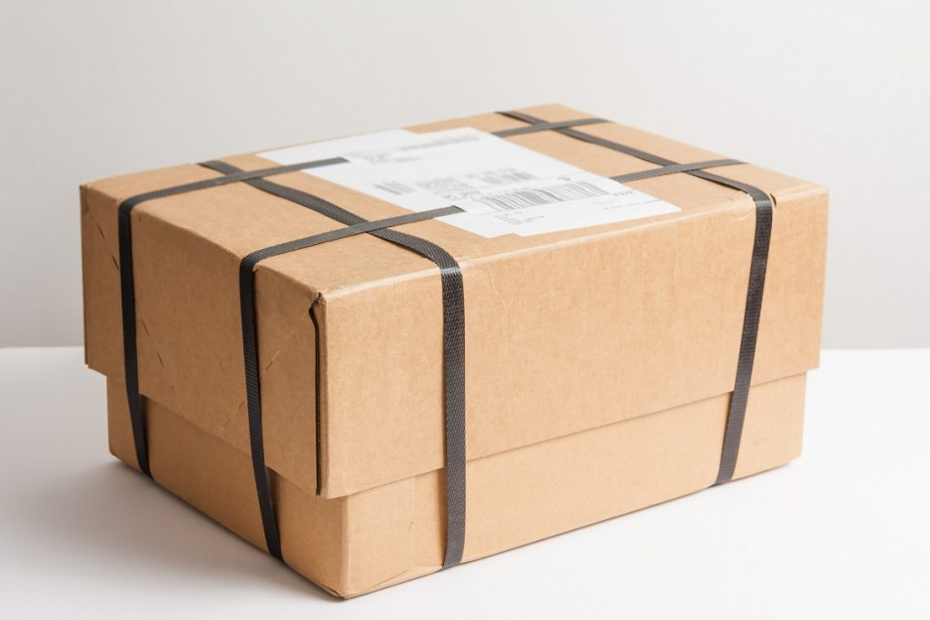 shipped box